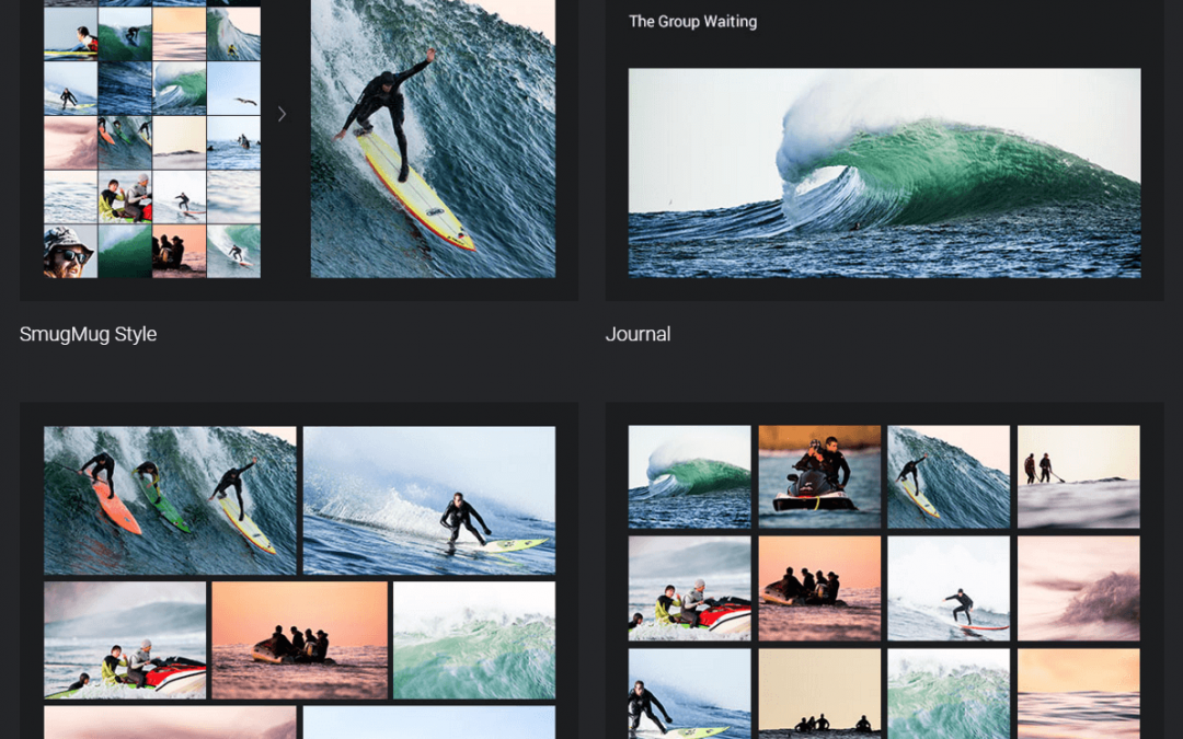 Photo websites in rwd mobile friendly layout website for Smugmug templates