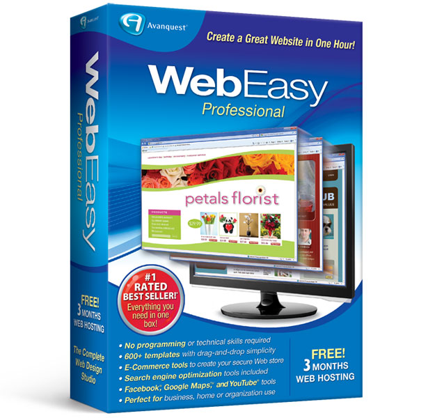 WebEasy Professional 10 web design software – 50% off the #1 website design software for Windows.