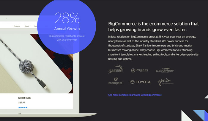 BigCommerce beautiful online stores make money online